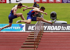 110m hurdle final (stevennokes) Tags: woman field athletics birmingham track meadows running smith mens british hudson sainsburys asher muir hurdles rooney 100m 200m sprinter 400m 800m 5000m 1500m mccolgan twell