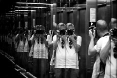 Kaledioscope (Thomas Demeulemeester) Tags: camera bw byn me sunglasses reflections twins photographer lift noiretblanc mirrors nb indoors sidebyside bnw intrieur apn ascenseur jumeaux lunettesdesoleil photographe bucarest blackwandwhite kaledioscope miroirs appareilphoto selfies ctecte dosdos