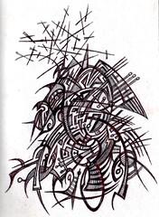 Horse (darksaga66) Tags: bookofink inkart penandink horse illustration ink art