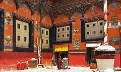 Sakya Monastery 13 (joeng) Tags: tibet china sakya temple building sakyamonastery landscape monastery people places