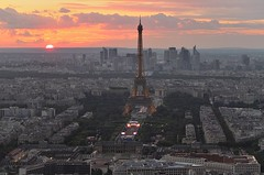 postcard of Paris from the Montparnasse Tower  (thank for your visit) (Flavio Ciarafoni) Tags: montparnasse flavio ciarafoni paris parigi night sunset fuji x10 tour eiffel tower torre