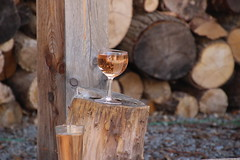 tchin-tchin ! (nmartin102) Tags: tchin verre vin ros bois nature