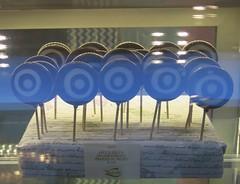 Wednesday Colours - The Beautiful Windows of Natale Pastry Shop (Pushapoze) Tags: italia italy puglia pouilles lecce pasticcerianatale shopwindow vitrines vetrina lollipops tortasalentina easter pasqua sucettes leccalecca