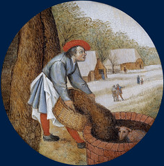 To fill the well after the calf has drowned (petrus.agricola) Tags: pieter bruegel younger proverbs flemish netherlandish painting tondo