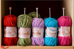 Woolpack (mikeyp2000) Tags: knit needles wool colours multicolor knitting multicolour