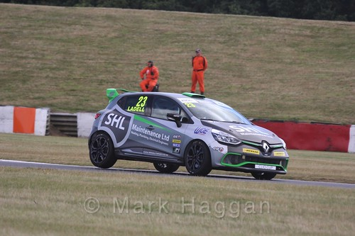 Charlie Ladell in the Clio Cup during the BTCC 2016 Weekend at Snetterton