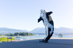 Digital Orca (scottboms) Tags: vancouver travel digitalorca douglascoupland art pixels sculpture installation outdoors waterfront