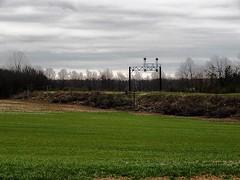 Former Erie Lackawanna signal bridge near Laketon Indiana (Matt Ditton) Tags: erie lackawanna signal bridge laketon indiana abandoned