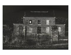 The House (Photo-LB) Tags: maison atmosphre noiretblanc urbex architecture nikon d800 nikon58mm brique blackandwhite lumire ambiance route chemin urban urbain campagne noir sombre fentres