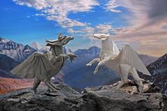 Winged Horses (P. Colman) Tags: origami paper horse pegasus sd1merrill