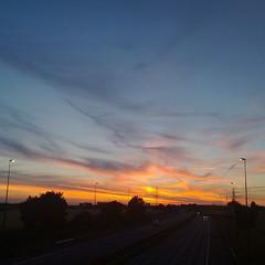 M62 Sunset (John - Nash) Tags: sky night nightsky moon sunset luna sun clouds m62 northwest uk warrington winwick