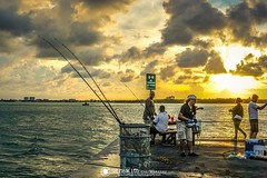 Fishing Time @ Sunset (TheMagicLensPhotography) Tags: beach nature sea sunset