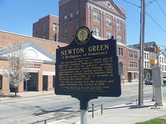 Historical Marker, April 17,2016 (rustyrust1996) Tags: sussexcounty newton newjersey courthouse newtongreen historicalmarker