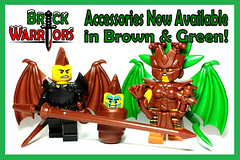 """Holiday Gift Guide From A-Z: U is for """"U"""" Will Love These New Colors! (MandaBW) Tags: brown green colors lego accessories custom minifigure brickwarriors"""