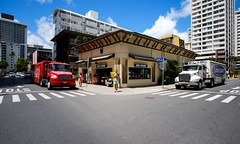 Coke and Bud. (PeeterTomson) Tags: street light beer hawaii cola waikiki oahu coke fujifilm abc