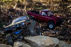 DSC_0653 (Strangely Different) Tags: scale rock toy outside amigo rocks jeep 4x4 110 pickup hobby toyota bruiser bj yj tamiya landrover fj rc radiocontrolled cruiser crawler xj hilux scaler axial d90 d110 gelande trailfinder rc4wd scalecrawler strangelydifferent rceveryday