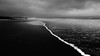 Grim (Tim Croudace) Tags: ocean sea england blackandwhite seascape black beach water monochrome weather clouds landscape sand nikon cornwall britain tide wide dramatic wideangle end bleak lands d610 seascpae nikkor1635