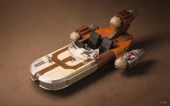 X-34 Landspeeder _ Alternate nose (_Tiler) Tags: starwars desert lego luke droid landspeeder c3po skywalker obiwankenobi tatooine droids episodeiv x34landspeeder moistureevaporator