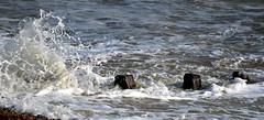 lively sea................. (patrick l clinton) Tags: winter sea sand shingle cream foam enjoy foamy groin pevensey pevenseybay
