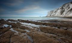Waiting for the Night (Alan MacKenzie) Tags: sea lighthouse landscape twilight dusk cliffs eastsussex southdowns beachyhead beachyheadlighthouse