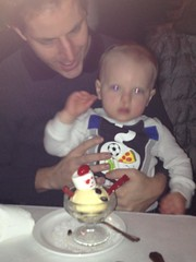 """Paul Eats Snowman Ice Cream at the Walnut Room • <a style=""""font-size:0.8em;"""" href=""""http://www.flickr.com/photos/109120354@N07/15932233740/"""" target=""""_blank"""">View on Flickr</a>"""
