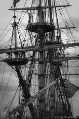 """Square Rigged Ship, Provincetown MA (18""""x27"""") (JMichaelSullivan) Tags: bw 100v mono ship pentax provincetown massachusetts 10f dxo 200v 500v k3 2014 300v 5f squarerigged mjsfoto1956 400v monochromia da60250mm"""