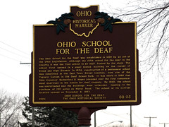 Ohio School for the Deaf - Marker 88-25 (Lunken Spotter) Tags: columbus ohio history sign historic signage marker historical oh historicalmarker franklincounty centralohio ohioschoolforthedeaf