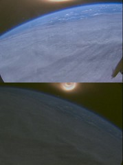 Plasma surrounds vehicle during reentry