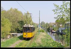EMA 507 - Nieuwe Kalfjeslaan (Spoorpunt.nl) Tags: museum tram april 20 ret ema nieuwe elektrisch 2014 lijn 507 kalfjeslaan