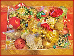 Christmas Ornament Collection (bigbrowneyez) Tags: christmas decorations stilllife beautiful sparkles festive golden navidad holidays display shimmery collection ornaments fancy stunning belle glowing elegant striking natale oro bobbles elegante bellissime omantic christmasonamentcollection
