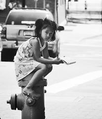 Little Girl, New London CT (asw12681photo) Tags: street urban blackandwhite bw white black children photography blackwhite nikon raw candid streetphotography gritty selftaught bnw candidphotography nikond3000