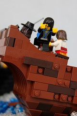 Nice Day for a Swim (jsnyder002) Tags: water boat ship lego interior pirates crew pirate cannon sunken wrecked moc brickbuilt yursuff
