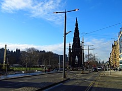Edinburgh (View of the Scott Monument,from Princes Street) (Netty 78) Tags: road street old city blue winter walter sky people monument clouds buildings scott scotland edinburgh europe european traffic britain centre united union capital great gothic victorian kingdom historic princes sir lothian the 2015