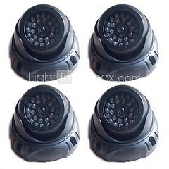 4 шт новая камера манекен Купольная безопасности с помощью светодиодного датчика света
