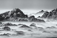 The Sea, The Rocks (Ron Rothbart) Tags: california longexposure blackandwhite bw water monochrome coast rocks pacificocean nd pacificgrove pointpinos neutraldensityfilter 10stopfilter