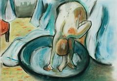 Hoy aprendiendo de Degas (alejandra.yearzero) Tags: arte pastel draw degas dibujo pintura desnudo impresionismo