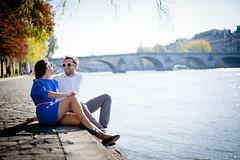 Romain et Julie (Le chat boureau) Tags: paris lovers amoureux quais