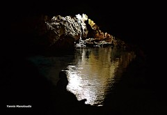 A mermaid (ioannismanoloudis@gmail.com) Tags: light woman black window girl swimming swim dark greek bath rocks view darkness earth interior mani greece cave mermaid subterranean peninsula siren peloponnese stoupa kardamili maniot