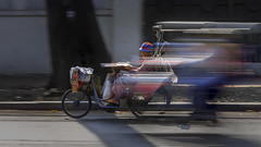 27km/h (paza140) Tags: life street people woman motion bicycle lady speed living asia day mood traffic vietnam human transportation streetphoto seller nationalgeographic paza140