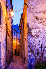 Cobblestone alley II (Raoul Pop) Tags: travel winter italy castle architecture buildings alley europe italia seasons cities places it historic cobblestone fortress narrow marche grottammare