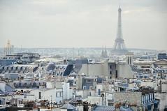 bright light Paris (marin.tomic) Tags: city travel urban panorama paris france skyline french nikon frankreich europe cityscape view rooftops eiffel eiffelturm centrepompidou beaubourg d90 eiffeltowertour