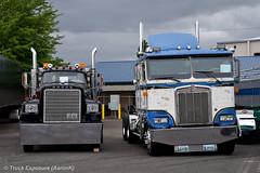 1975 Dodge Big Horn & 1985 Kenworth K100E (Truck Exposure) Tags: coe cabover kenworth19801989 kenworthk1 kenworthkseries truck19701979