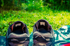 Shoes (Tony Webster) Tags: camping minnesota us shoes unitedstates fairfax campground merrell