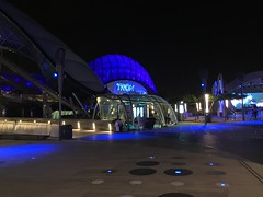 Tron Lightcycle Power Run sign at night (coconut wireless) Tags: china lighting night asia shanghai disneyland disney amusementpark rollercoaster tron pudong tomorrowland themepark sdp 2016 sdl frikitiki shdl shanghaidisneyland asia2016 tronlightcyclepowerrun shdlp