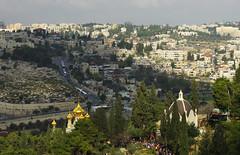 Jerusalem from Mount of Olives (Gregor  Samsa) Tags: city trip israel town view jerusalem adventure vista overlook exploration viewpoint oldcity mountofolives