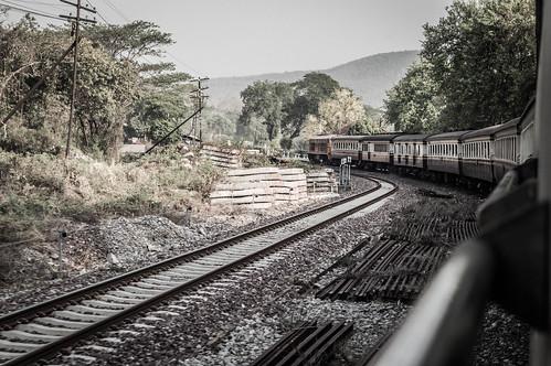 Around The Bend - Bangkok To Chiang Mai Railway, Thailand.
