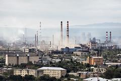 Rustavi, Georgia. (ste_peg) Tags: stepeg industrial industry chimneys smoke cooling towers buildings rustavi georgia soviet