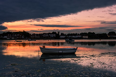 Let There Be Light (Explore 17-7-2016 Late) (Sunset Snapper) Tags: uk sunset creek reflections boats bosham still weed nikon westsussex cloudy harbour july calm filter lee nd grad southcoast drama hightide lettherebelight 2016 2470mm d810 sunsetsnapper