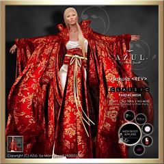 (IMAGE) Sakura_REV (c)-AZUL-byMamiJewell (mami_jewell) Tags: china fashion azul dress mesh avatar formal virtual sakura kimono gown hautecouture revised mvw applier missvirtualworld