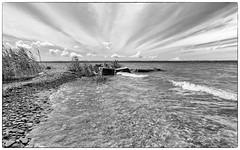 Radiating (Note-ables by Lynn) Tags: blackandwhite bw monochrome clouds skies georgianbay shoreline leith skancheli